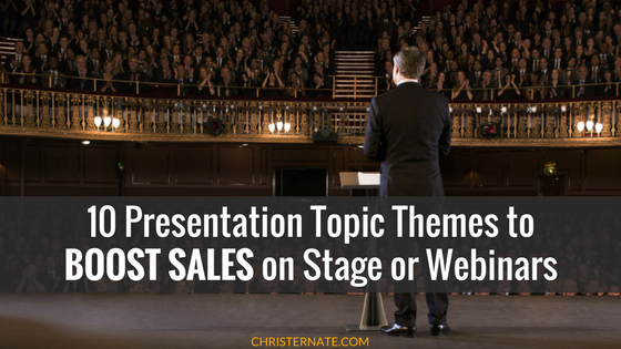 10 Presentation Topic Themes to Boost Sign ups and Sales on